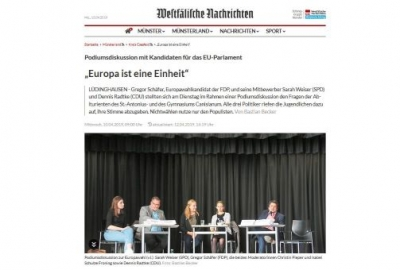 Podiumsdiskussion Europawahl